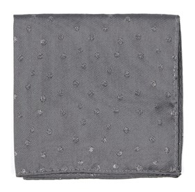 Circle Soiree Grey pocket square