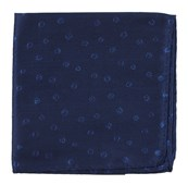 Pocket Squares - Circle Soiree - Navy