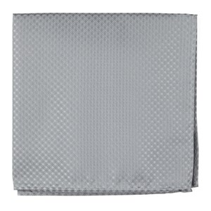 be married checks silver pocket square