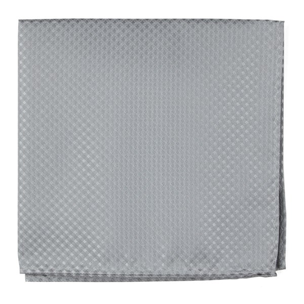 Silver Be Married Checks Pocket Square