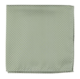 Sage Green Be Married Checks pocket square