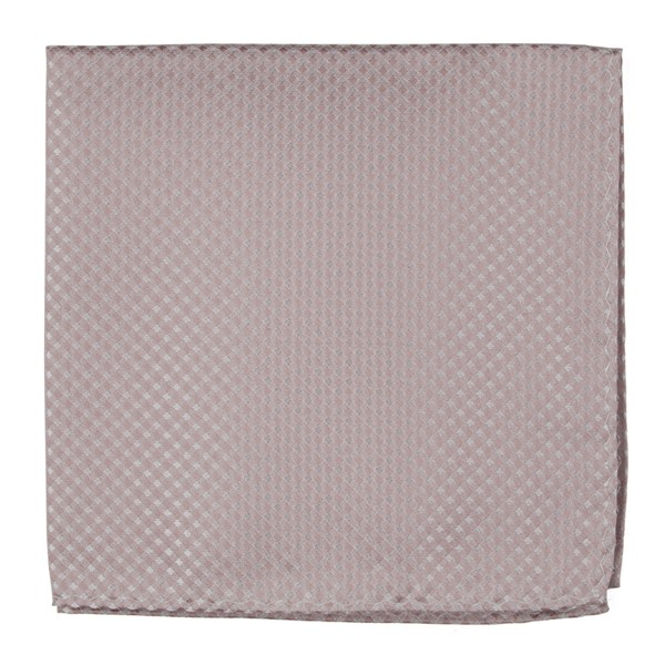 Soft Pink Be Married Checks Pocket Square