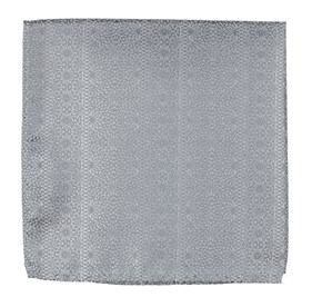 Grey Wedded Lace pocket square