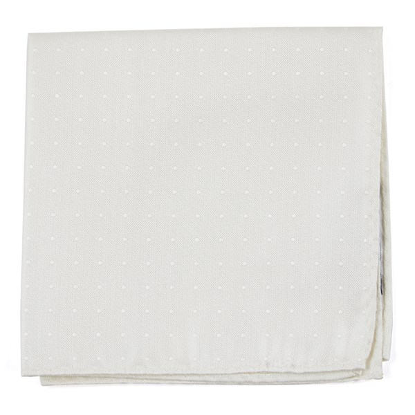 Love At First Dot Ivory Pocket Square