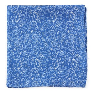 bracken blossom royal blue pocket square