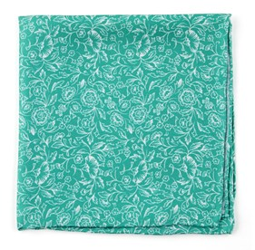 Kelly Green Bracken Blossom pocket square