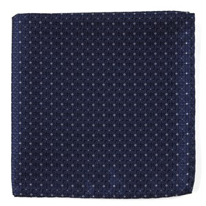 medallion lane navy pocket square