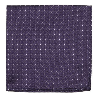 Medallion Lane Eggplant Pocket Square