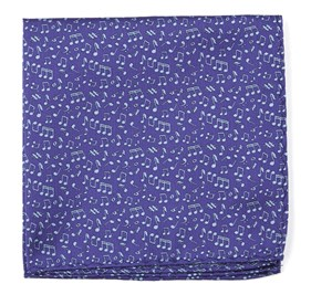 Purple Music Notes pocket square