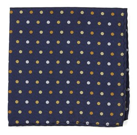 Spree Dots Yellow pocket square
