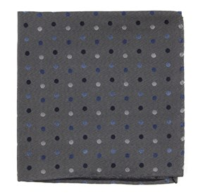 Grey Spree Dots pocket square