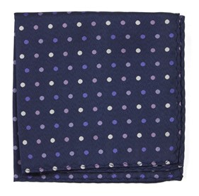 Purples Spree Dots pocket square