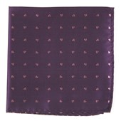 Pocket Squares - Heart To Heart - Plum