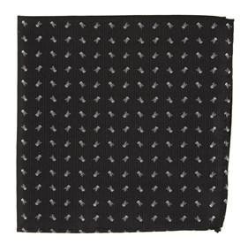 Black Mini Skull And Crossbones pocket square