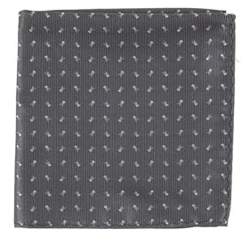 Mini Skull And Crossbones Grey pocket square