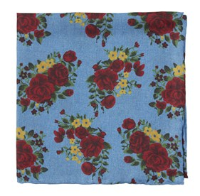 Light Blue Hinterland Floral pocket square