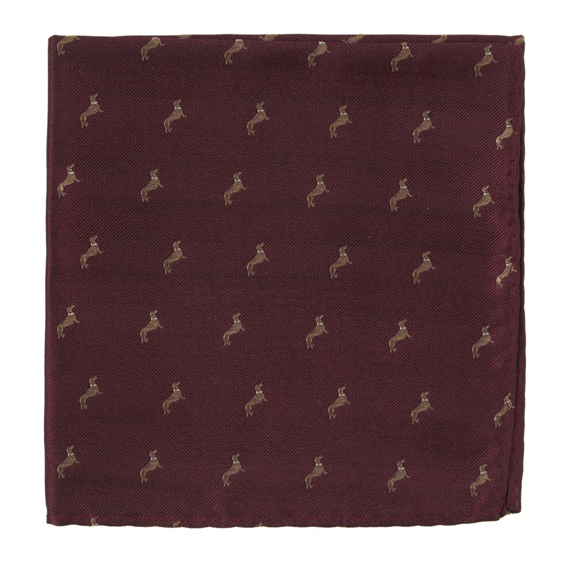 Dog Days Pocket Square in Burgundy