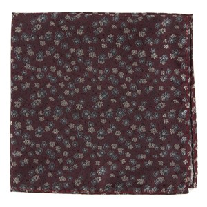 free fall floral burgundy pocket square