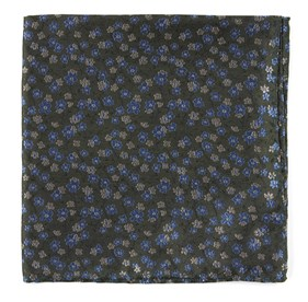Army Green Free Fall Floral pocket square