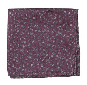 Mauve Free Fall Floral pocket square