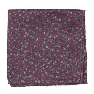 Free Fall Floral Mauve Pocket Square