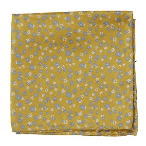 free fall floral yellow gold pocket square