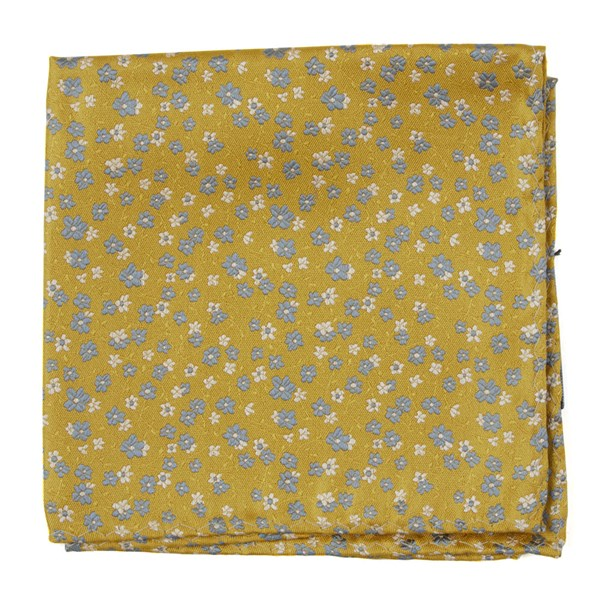 Yellow Gold Free Fall Floral Pocket Square