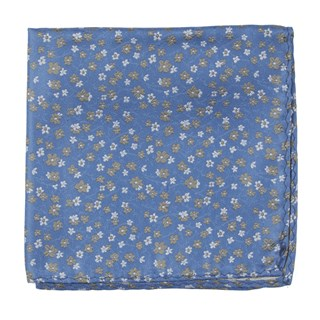 free fall floral light blue pocket square