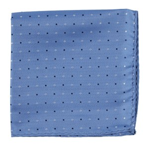 jpl dots light blue pocket square