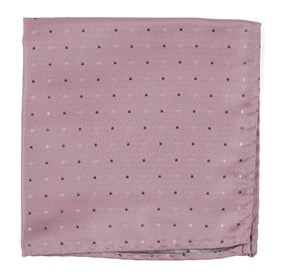 Jpl Dots Baby Pink pocket square