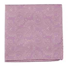 Dusty Rose Twill Paisley pocket square