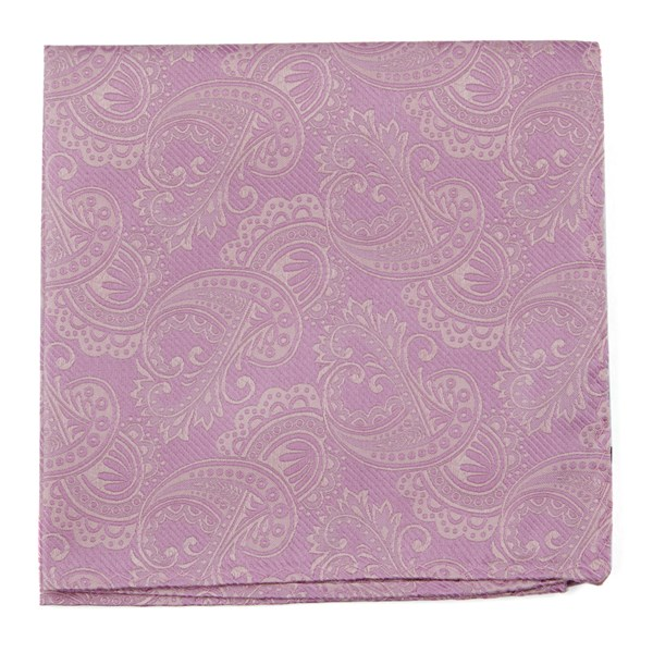 Twill Paisley Dusty Rose Pocket Square