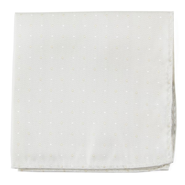 Ivory Suited Polka Dots Pocket Square
