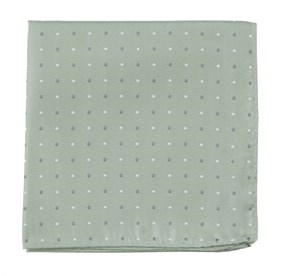 Sage Green Suited Polka Dots pocket square