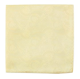 Twill Paisley Butter pocket square