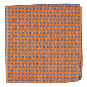 commix checks tangerine pocket square