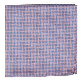 Pink Commix Checks pocket square