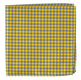 Yellow Commix Checks pocket square