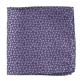 Purple True Floral pocket square