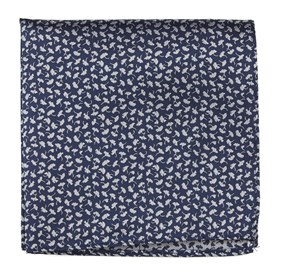 True Floral Navy pocket square