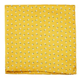 Wonder Floral Yellow Gold pocket square