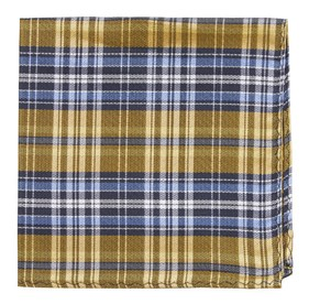 Yellow Motley Plaid pocket square