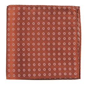 Junction Geos Burnt Orange pocket square