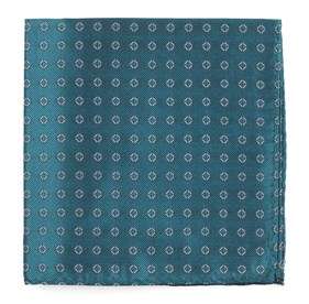 Teal Junction Geos pocket square
