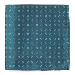 junction geos teal pocket square