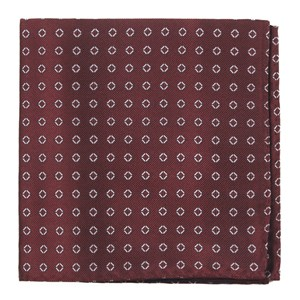 junction geos burgundy pocket square