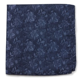 Navy Ramble Floral pocket square