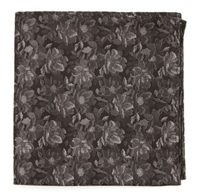 Ramble Floral Black pocket square