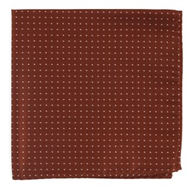 Copper Mini Dots pocket square