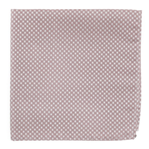 Mauve Stone Be Married Checks Pocket Square